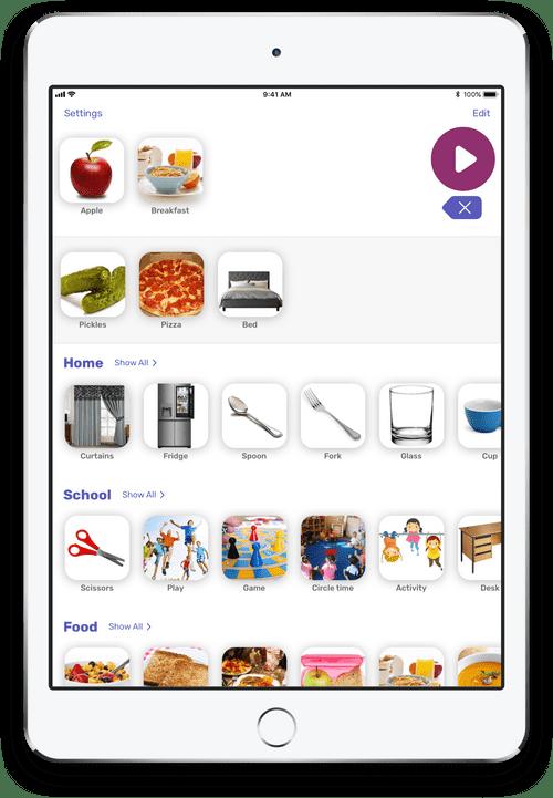 iPad showing Lyra app
